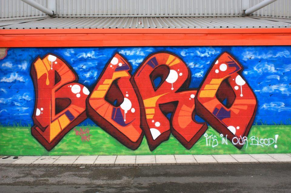 Middlesbrough FC Graffiti / Family Zone – Outside